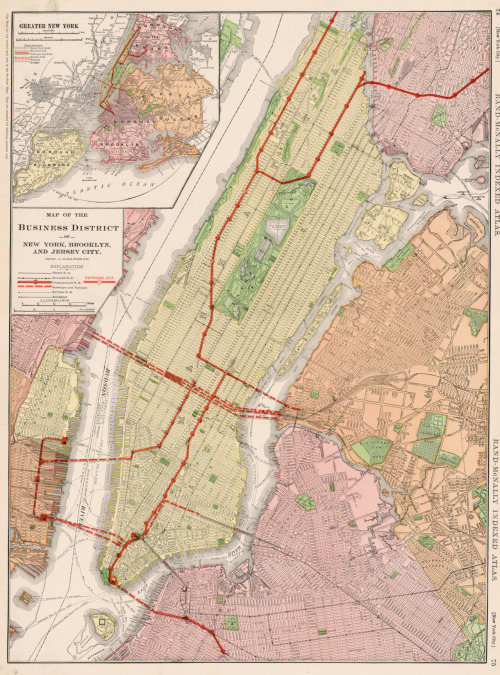 Rand McNally & Co., 1911, Business District of New York, Brooklyn, & Jersey City