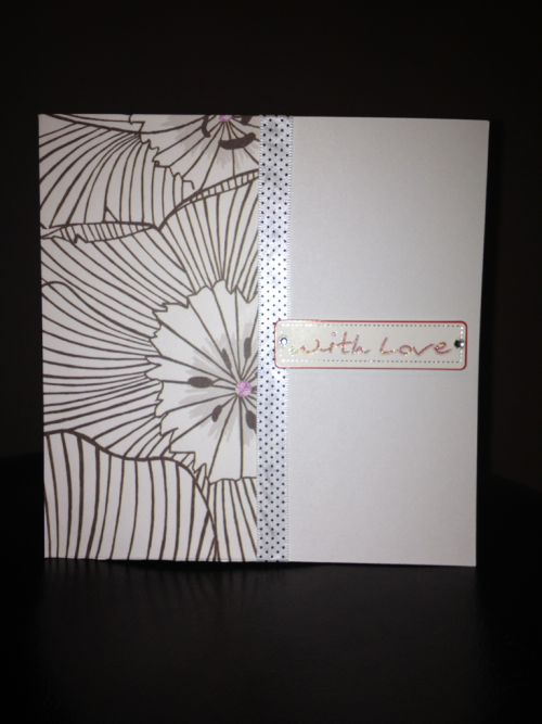 """With LOVE"" - £2.00 handmade card lush design 1 off like they all are - get in fast ❤ - hunderwood1986@hotmail.co.uk - SOLD!!!"