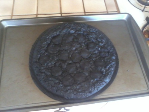chaos7:  mitchbade:  my roommate left this in the oven for 4 hours  at first i thought it was a giant oreoboy was I wrong