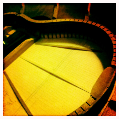 My Uke =] should be ready soon. Can't wait! Made by my father-in-law to be as a birthday present from him and the hubby!