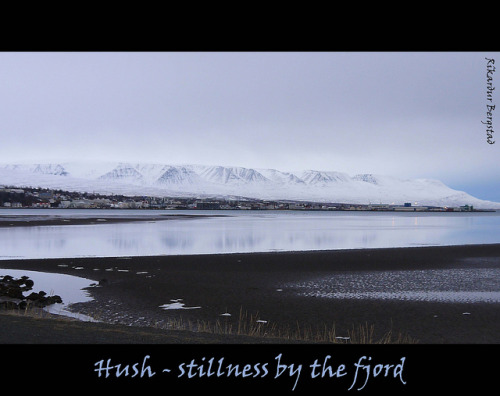 Title: Stillness in winter scene from Eyjafjördur, Iceland - only it would last for a while