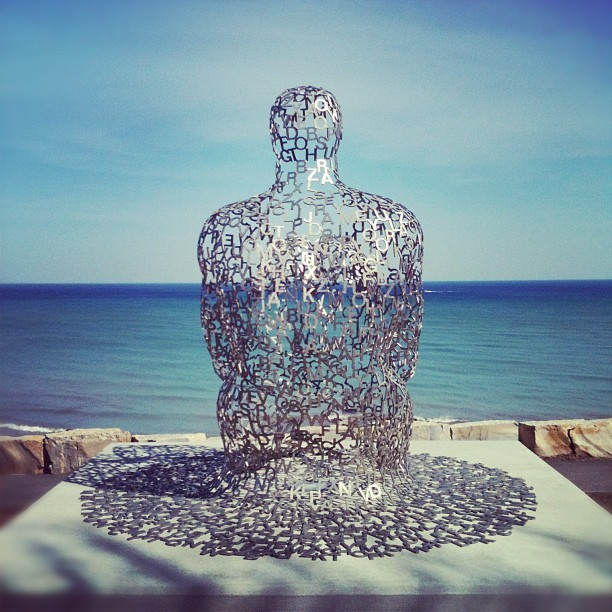 Awesome sculpture in Shorewood that's made of #typography  (Taken with instagram)