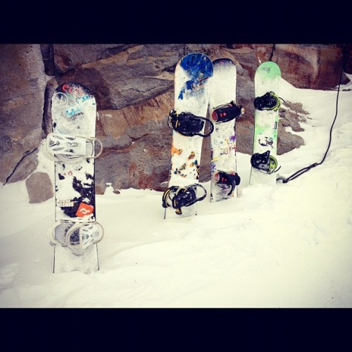 Boards (Taken with Instagram at Chair 3: Mammoth Mountain)