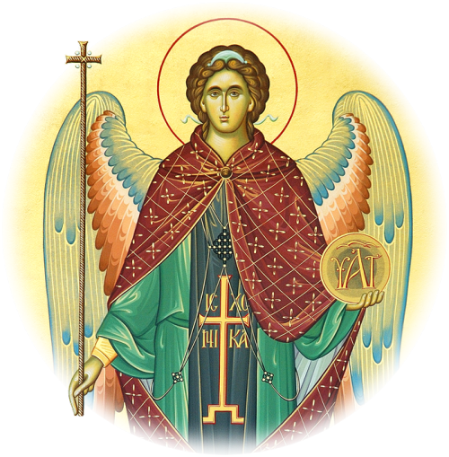 adamthenorman:  The Angel of God, revealing the monastic dress to St. Pachomius