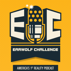EARWOLF CHALLENGE LOGO This was one of the easiest logos I got to put together for Earwolf. I provided a handful of color options [first image] and we finally settled on the yellow and dark blue combo [second image].