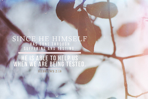 iwilltrustinyou:  Hebrews 2:18 (by Brittney Borowski)