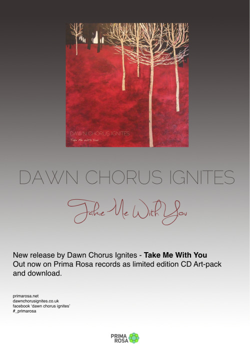 Poster of Dawn Chorus Ignites release Take Me With You… feel free to print and display in every corner of the globe :-) PR