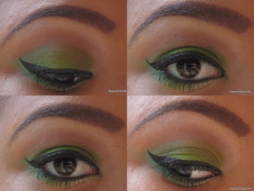 beautyforbrowngirls:  St. Patricks Day Eyes Featuring Wet & Wilds I Dream of Greenie eyeshadow trio