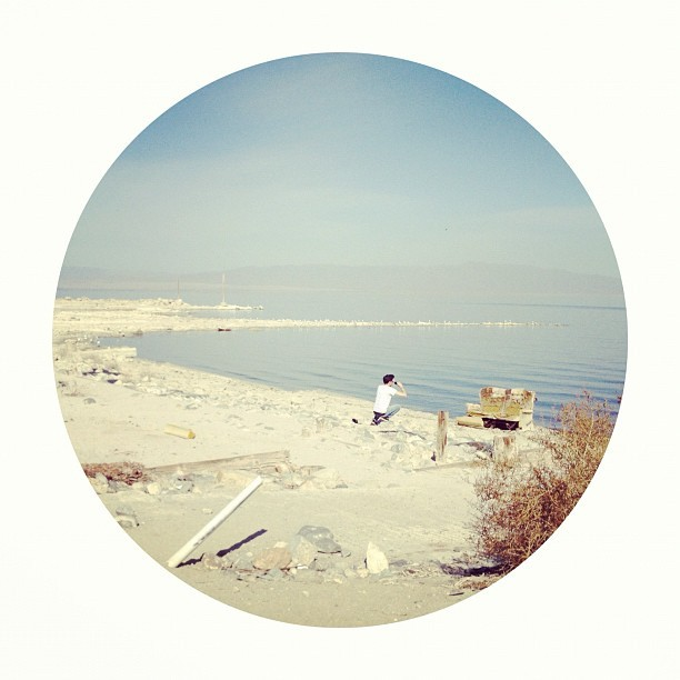laurennicolelove:  Salton sea. Sorry for getting on the little circle kick everybody haha (Taken with Instagram at Salton Sea)