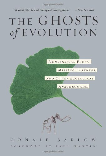 "BOOK RECOMMENDATIONS: The Ghosts of Evolution:  Nonsensical Fruit, Missing Partners, and Other Ecological Anachronisms by Connie Barlow There has been a bit of a revolution in the way that paleontologists and ecologists think about the historical landscape of North America from the Ice Age to now. Basically, many ecologists haven't really looked at NA with a critical eye towards how the megafauna of the past helped to form wide ranging ecological systems and relationships, which still exist as remnants today. These remnants are large seeded fruits across the Americas that have no animals today who are capable of dispersing the seeds. that's because the animals these plants evolved with, have gone extinct.  Connie Barlow's book is really the most readable and thorough popular resource for describing how the lonely avocado came to be as it is today, and what ancient extinct elephants had to do with it. We live in a world, in part, formed by huge creatures who no longer roam the earth. This book does a wonderful job of elucidating their legacy in the Americas. I can't recommend this book highly enough, whether you have an interest in general ecology, botany, paleontology, pleistocene mega-mammals, or avocados. Here's some notes from the publishers… A new vision is sweeping through ecological science: The dense web of dependencies that makes up an ecosystem has gained an added dimension-the dimension of time. Every field, forest, and park is full of living organisms adapted for relationships with creatures that are now extinct. In a vivid narrative, Connie Barlow shows how the idea of ""missing partners"" in nature evolved from isolated, curious examples into an idea that is transforming how ecologists understand the entire flora and fauna of the Americas… (see the book here)"