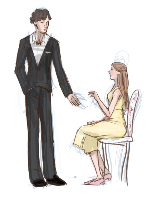 ruthlessbaraz:  sherlock asks molly for a dance on John's wedding.