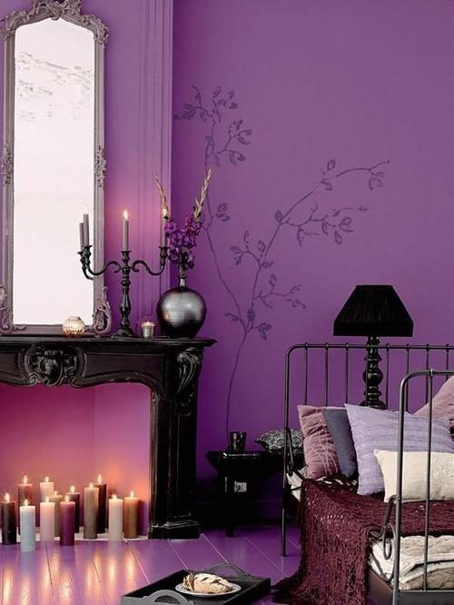 dyingofcute:  purple wall art