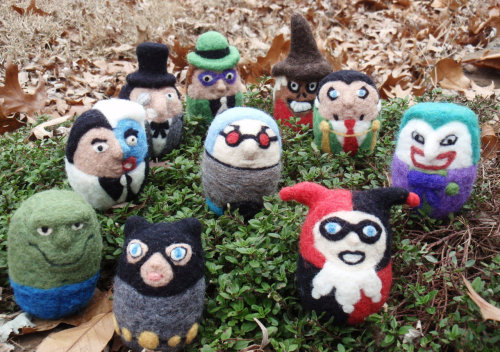 Needle Felted Batman Characters | Thanks Jessa, these are awesome, but no Batman :(