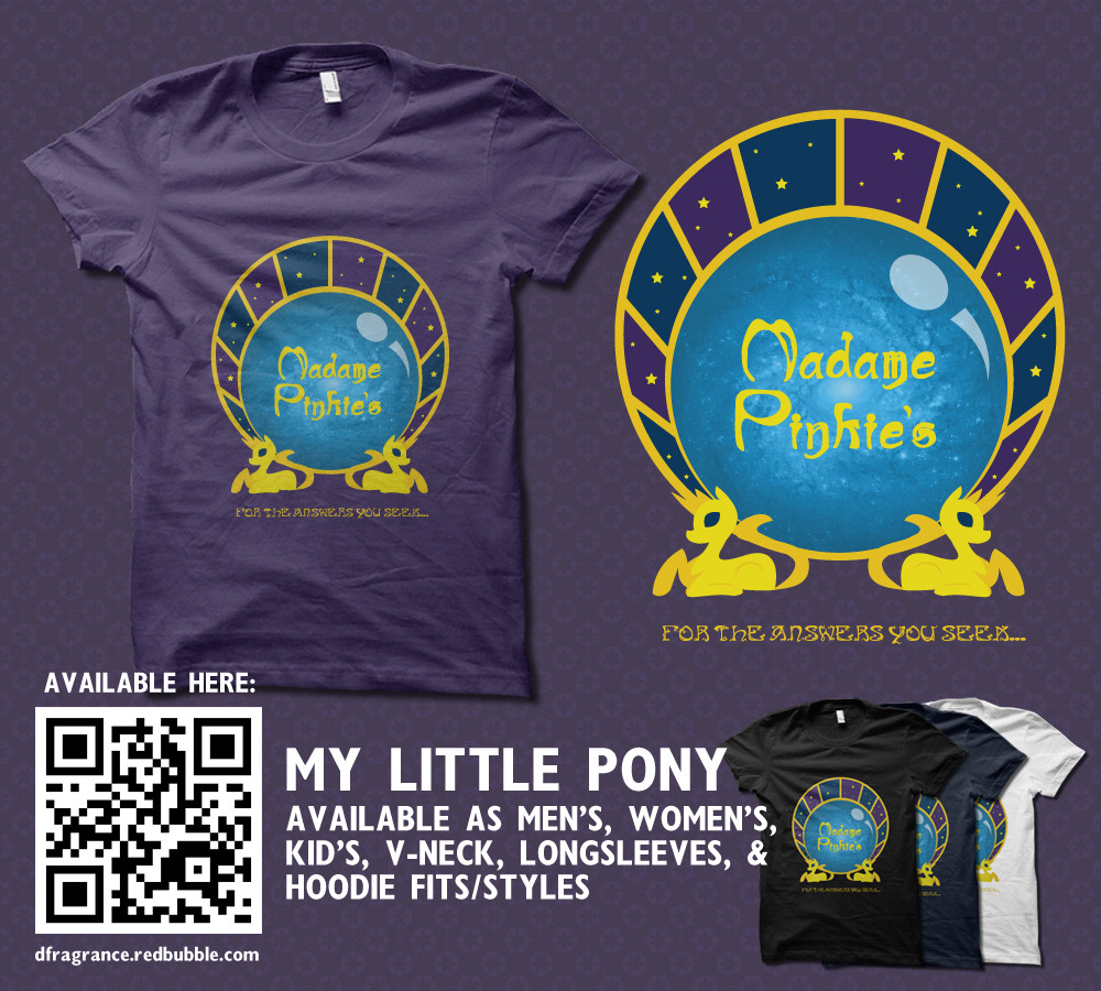 rachaelmakesshirts:  Based on the newest episode of My LIttle Pony, Madame Pinkie sees this shirt in your future - maybe as your next birthday present! Get it here as a shirt or hoodie in a rainbow of color choices! Follow RachaelMakesShirts at Tumblr & Facebook for sneak peeks, discounts, and giveaways!