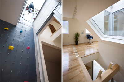 jaymug:  Climbing wall to roof level @ 3 way house by naf architect & design.