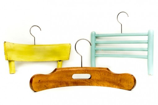 electrictriangle:  RECYCLED CHAIRS INTO COAT HANGERS