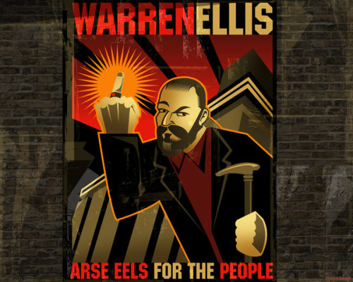 Arse eels for the people. Artist Paul Sizer.
