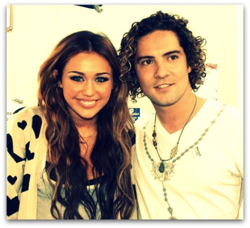 Miley Cyrus and David Bisbal [June 2010]