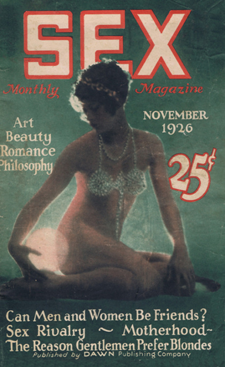 drakecaperton:  Sex Monthly Magazine November 1926