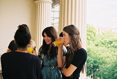 The orange juice-drinking brunette breakfast club.