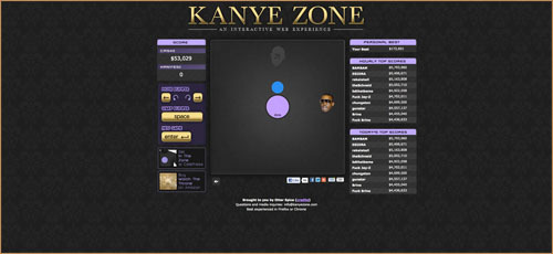 "lauriettebe:  anotherdopekreation:  Play ""Kanye Zone""….Its a game  lol  Well… this is interesting…"