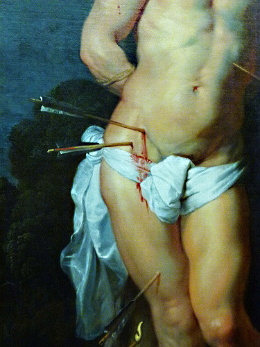 detail from Peter Paul Rubens' Saint Sebastian,  c. 1614