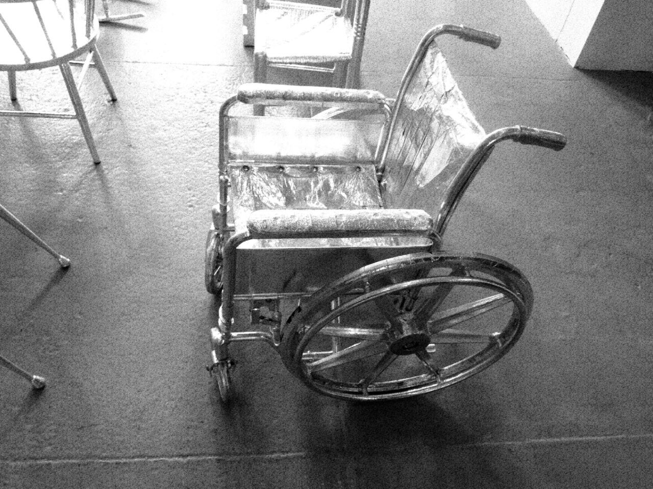 Rob Pruitt's silver wheelchair made its debut at The Independent Art Fair this week.