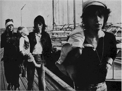 Anita Pallenberg, Marlon RIchards, Keith RIchards & Mick Jagger