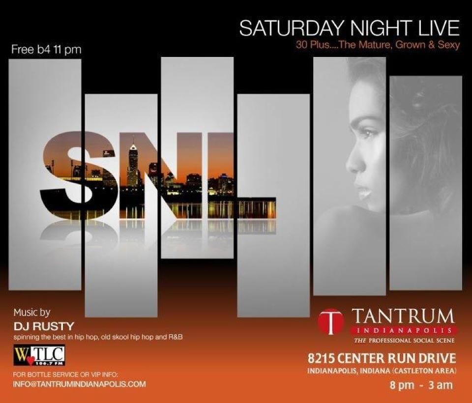 Yo! Here's the flyer to @Tantrum_Indy's 'SNL'. I spin the goods, from yesterday and today, and keep it grooving for the sassy, classy, sexy, and cool.  Make your way there tonight…and if tonight, next week. Just be there! Saturdays at Tantrum will be LIVE! RR