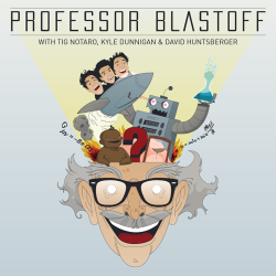 PROFESSOR BLASTOFF LOGO They said they wanted a professor with a lot of different things coming out of his head. Well, who doesn't want to draw that!? My favorite part of it? The brain…it just looks neat. Anyway, I gave the crew a few sketches and we eventually wound up with what graces their show now. The first few images were just initial teleportation ideas or time machines. More time machines please!