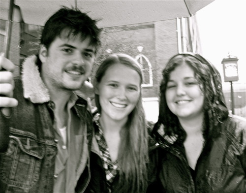 knowmyground:  Another picture of Me and Chelsea with Winston at the Ryman! Slightly blurry from the rain but still counts!   Fantastic!