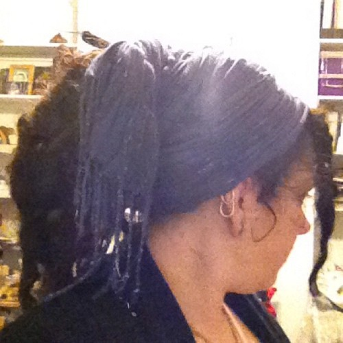 Ooooh it looks so much more awesome with longer locs!! #dreadlocks #extentions  (Taken with instagram)