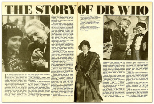 The Story of Doctor WhoDoctor Who Weekly, 1979  It all started sixteen years ago …