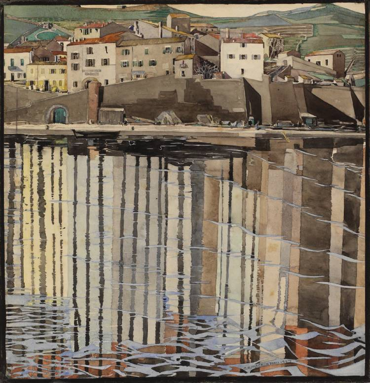 birdsong27:  Charles Rennie Mackintosh - La Rue du Soleil, Port Vendres,1926 The Hunterian Museum and Art Gallery, University of Glasgow