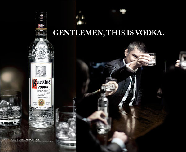 "I like how Ketel One commercials toss in a woman once in awhile so they aren't the gayest commercials ever. The one where the well dressed men sit around drinking vodka on the rocks - I feel like it is the scene right before a ""I only hook up with guys when I'm drunk"" orgy."