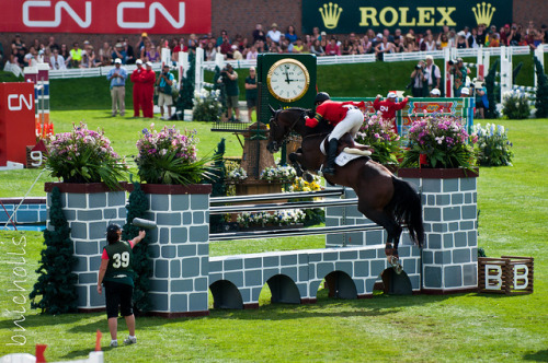 Eric Lamaze on Hickstead at Spruce Meadows Masters 2011 by Nicholls1 on Flickr.
