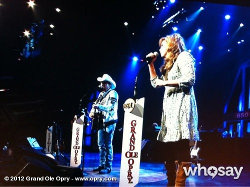 "Grand Ole Opry ‏ @opry A little ""Whiskey Lullaby"" from @BradPaisley and @AlisonKrauss"