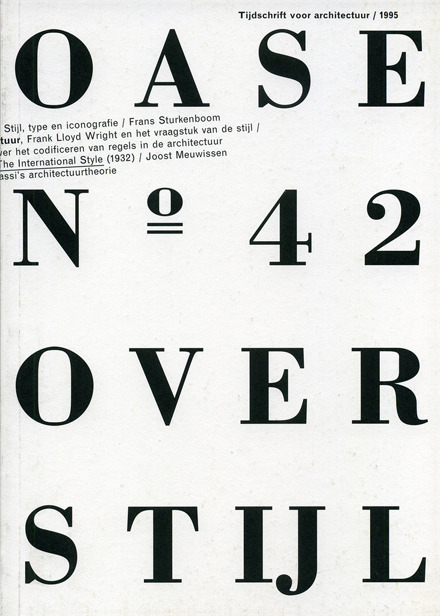 Design by Karel Martens  Oase Journal for Architecture