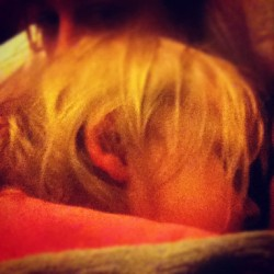 #marchphotoaday Day 10 | loud :: Beans snoring quite loudly #cosleeping  (Taken with instagram)