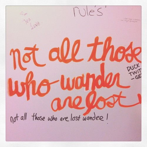 Inspiration on the washroom walls at @remedycafe #yeg  (Taken with instagram)