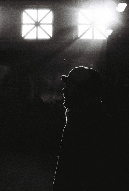 Portrait of a cold man by Laura Mary on Flickr.