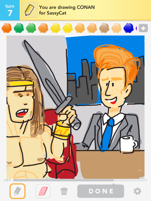 Conan vs Conan. I'll pick the guy with the sword.