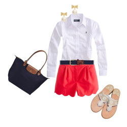 Untitled #115 by x333kelly featuring scalloped shorts