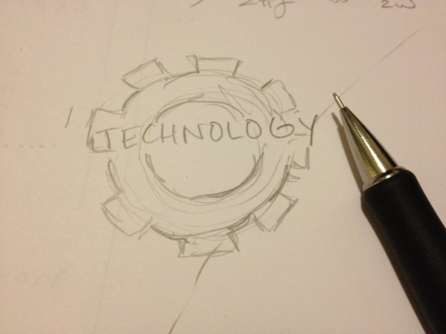Technology. Pencil was once the latest. Submit a photo of your mental tech (ideas)