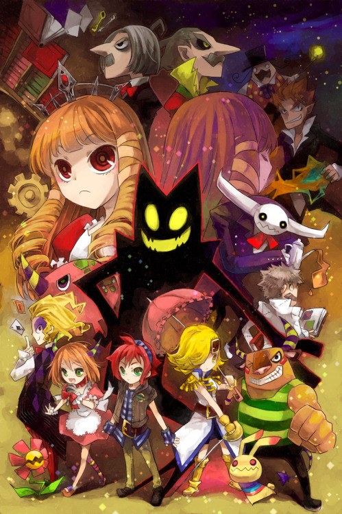 houseofbluelight:  ALL OF MY NOSTALGIA HRNGHHHHHHH Okage was the very first game I got for my PS2 and I love it dearly. It's so quirky and fun but hardly anyone I know/talk to has ever played it. I'm just so happy to see fanart for it. It would take me literally forever to tag this with every character's name especially considering I don't actually remember all their names ffft Source - pixiv