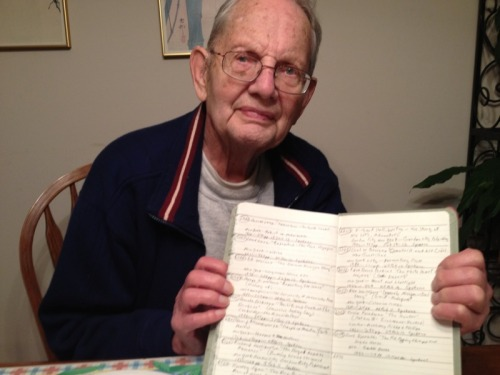 """My grandfather has a list of every book he has ever read. He's currently on his 6070th."""