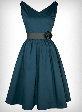 (via Peacock Blue Flair Dress | PLASTICLAND)