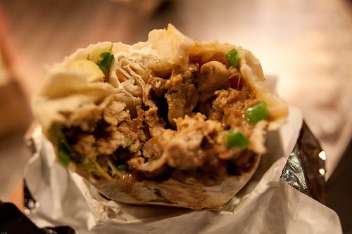 cravingsforfood:  Chicken burrito.