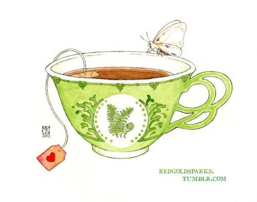 Tiger Moth Teacup by *Alex-tree
