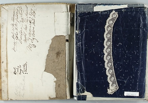 suspicions:  Lace Sample Book Date: ca. 1840  Culture: English